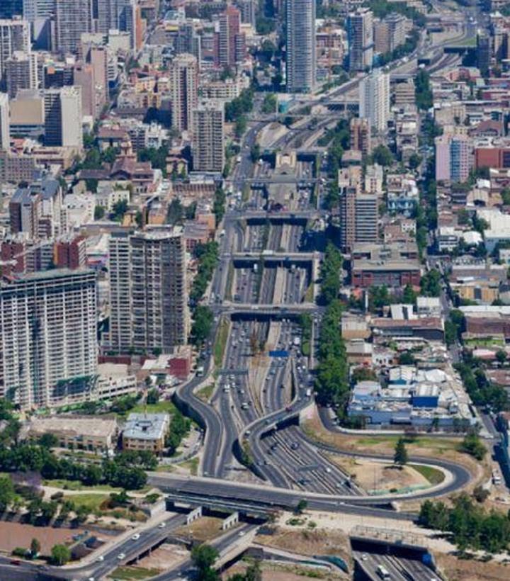 Autopista Central desde mapocho