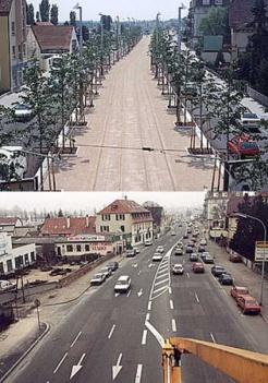 Avenida transformada en Corredor Tram
