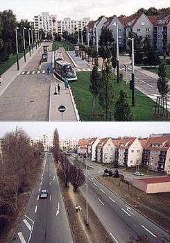 Creacion de nuevas áreas verdes en desmedro de vías