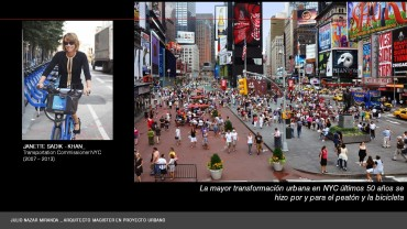 Janette Sadik - Khan , la arquitecta del cambio mas radical en NYC en los últimos 50 años.