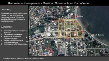 Concepto para repensar el Centro de Puerto Varas con mirada sustentable en la movilidad